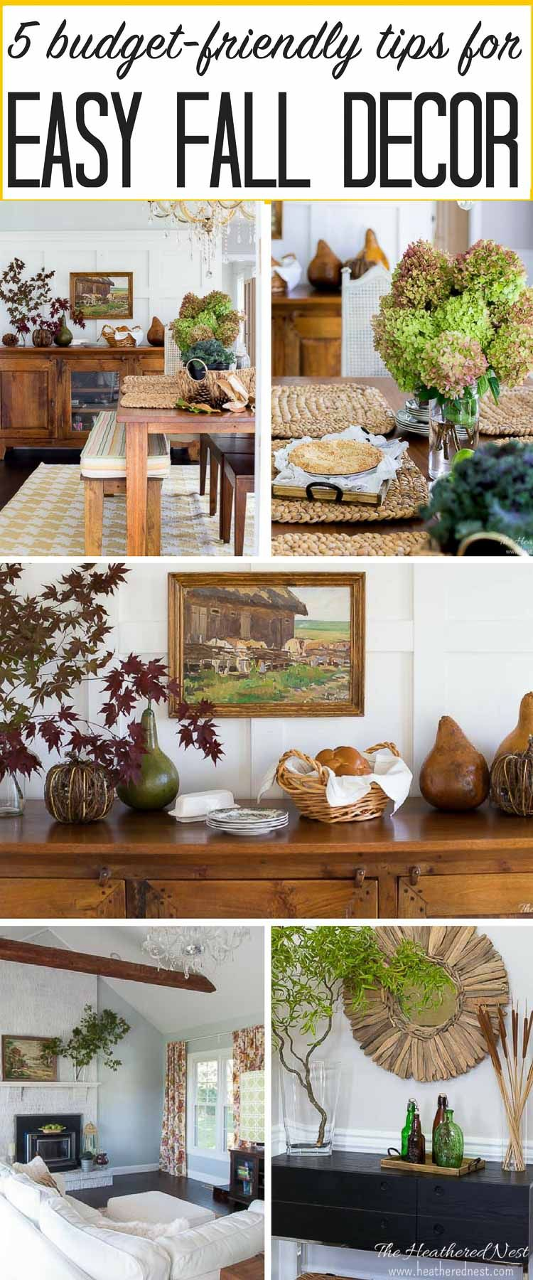Fall decorating on a budget - 5 Inspired Tips To Easy Budget Friendly Fall Home Decor