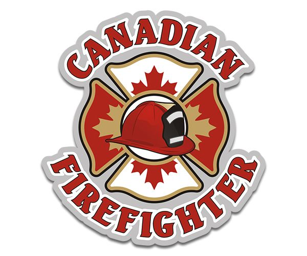 Canadian Firefighter Cross Helmet Sticker Decal Firefighter Cross Firefighter Helmet Stickers