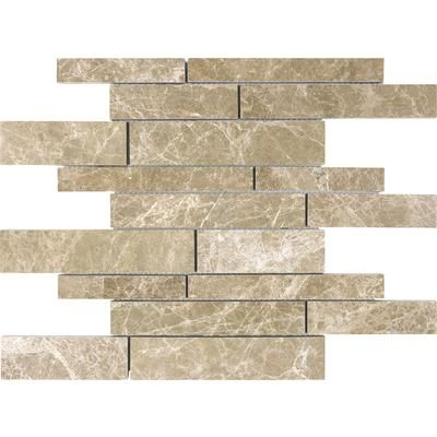 Anatolia - Honed Emperador Light Random Strip Mosaics - 76 ...