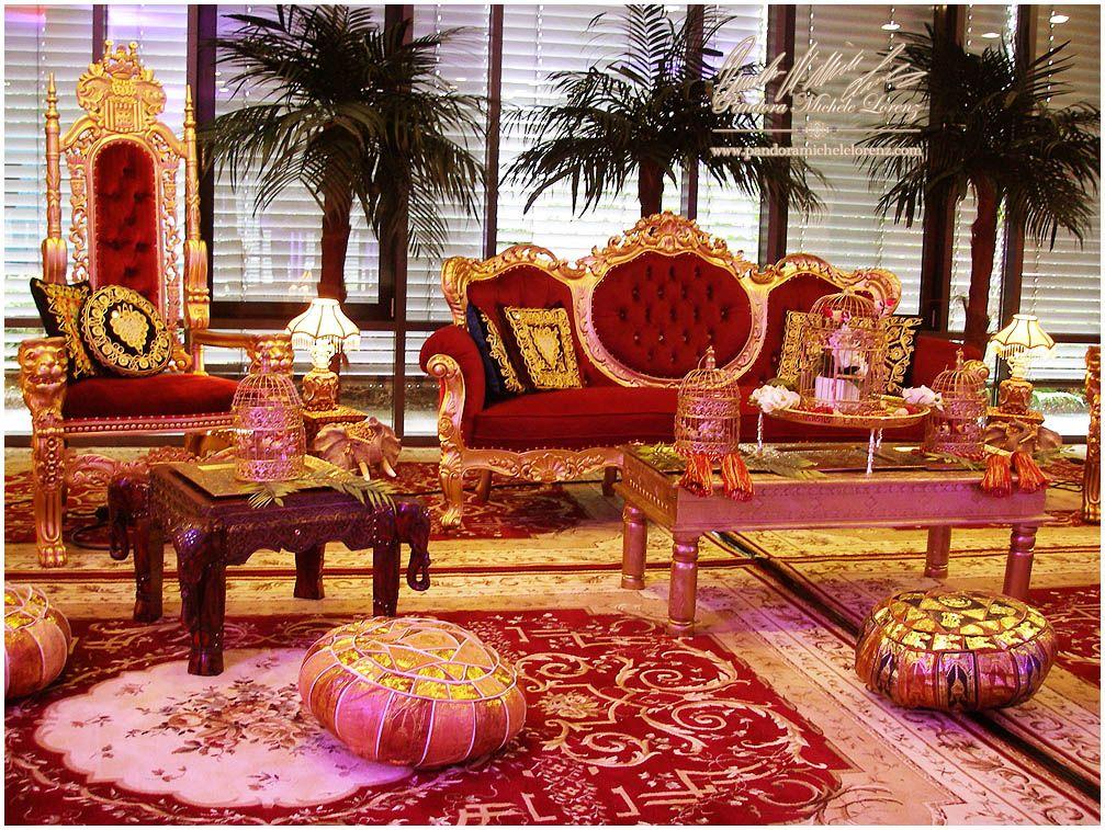 indien bollywood orient persische asien 1001 nacht hochzeits palast lounge antike luxus. Black Bedroom Furniture Sets. Home Design Ideas