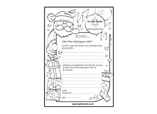 Have fun letting your child write a letter to santa in french have fun letting your child write a letter to santa in french ichild spiritdancerdesigns Images