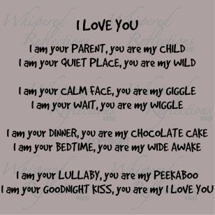 I love you poem