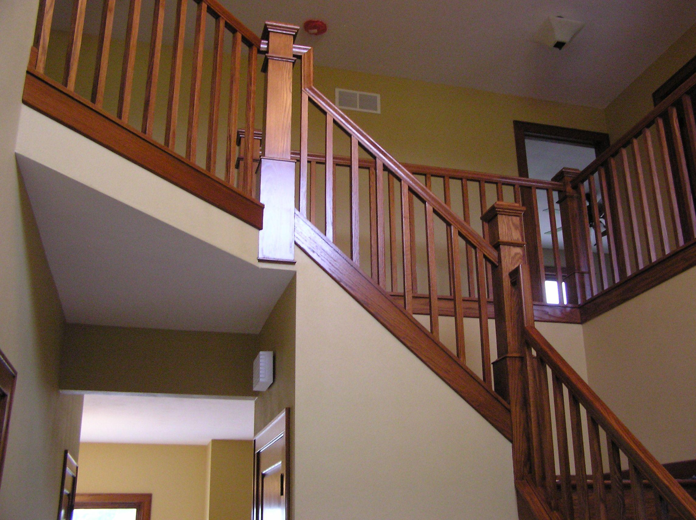 Best Modern Craftsman Staircase Craftsman Staircase Modern 640 x 480