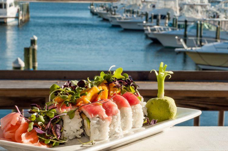 Best Orange Beach Seafood Restaurant On The Water Steaks Sushi Dine Deck Overlooking Perdido P And Sportman Marina