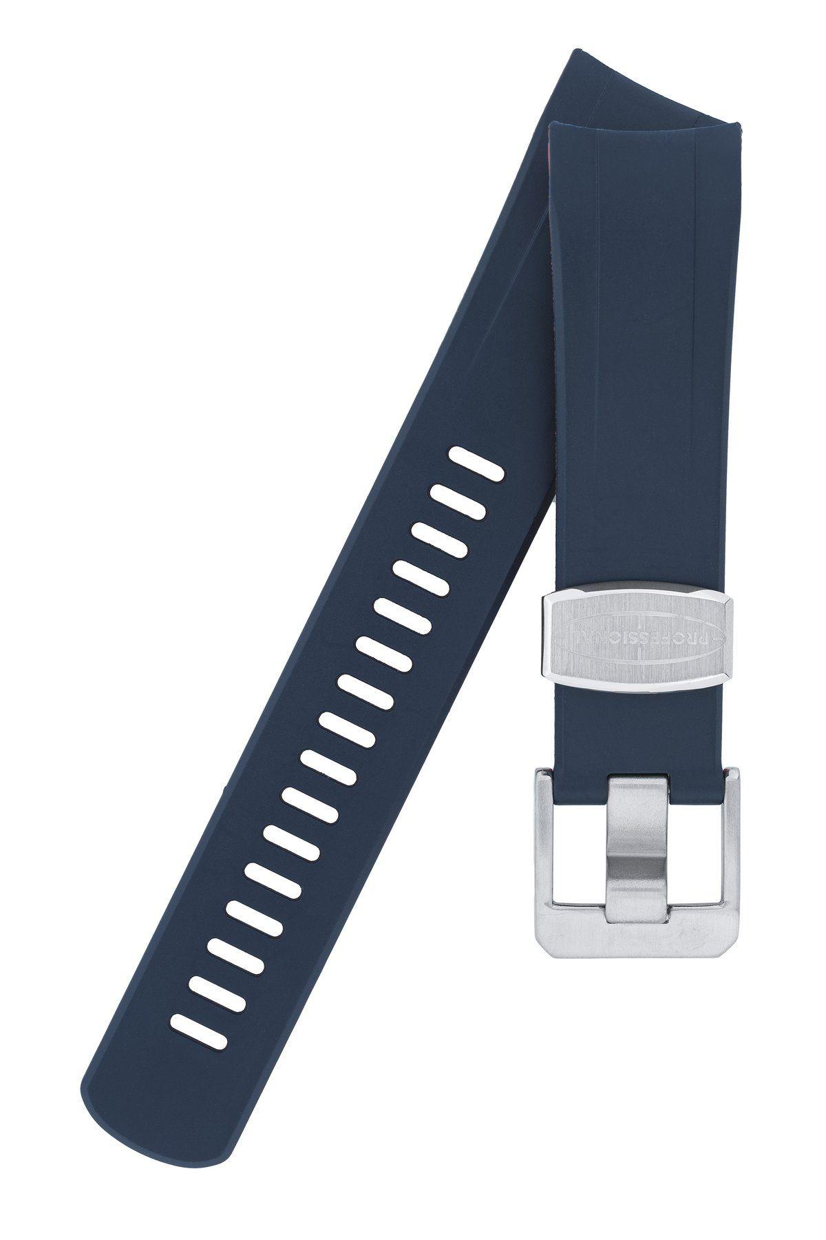 "CRAFTER BLUE Rubber Watch Strap for Seiko ""New"" Samurai"