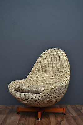 Original 1960u0027s Greaves And #thomas #retro Mid #century Swivel Egg Chair,  View More On The LINK: Http://www.zeppy.io/product/gb/2/222130658814/