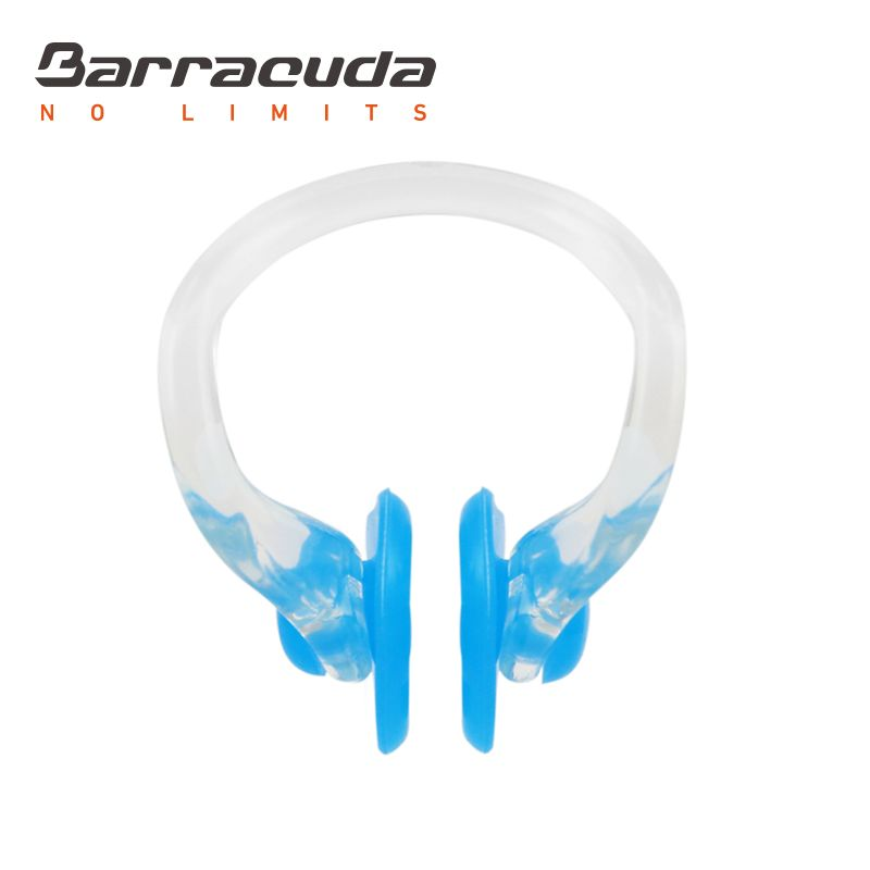 Barracuda Accessories – SILICONE PAD NOSE CLIP (L) with Storage Case, Chlorine-proof, Comfortable, Lightweight for Adults Men Women