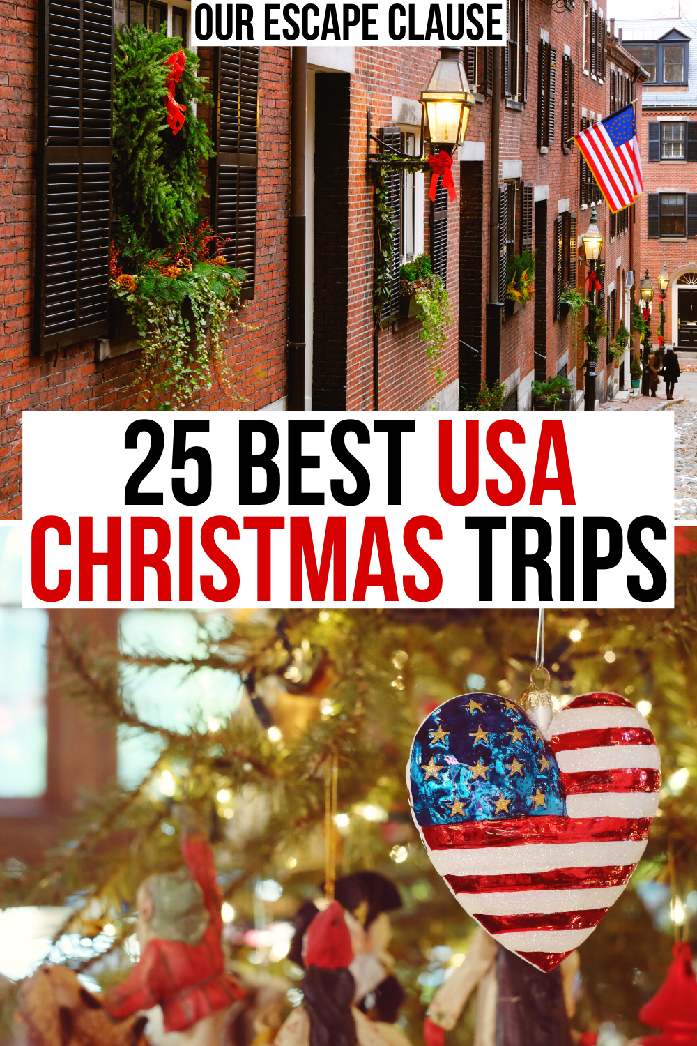 Best States To Travel Christmas 2020 25 Best Christmas Vacations in the USA   Our Escape Clause in 2020