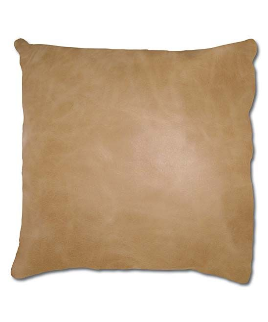 Maia Leather Pillow Accent Chair: Tan Sienna Leather Throw Pillow