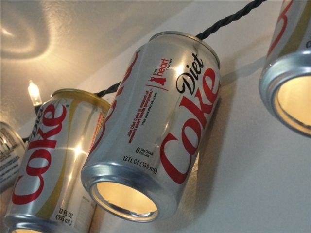 creative coca cola christmas decorations, we so will do this for our xmas party this year! ;)