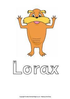 Finger tracing worksheet, Lorax - Pinned by @PediaStaff – Please ...