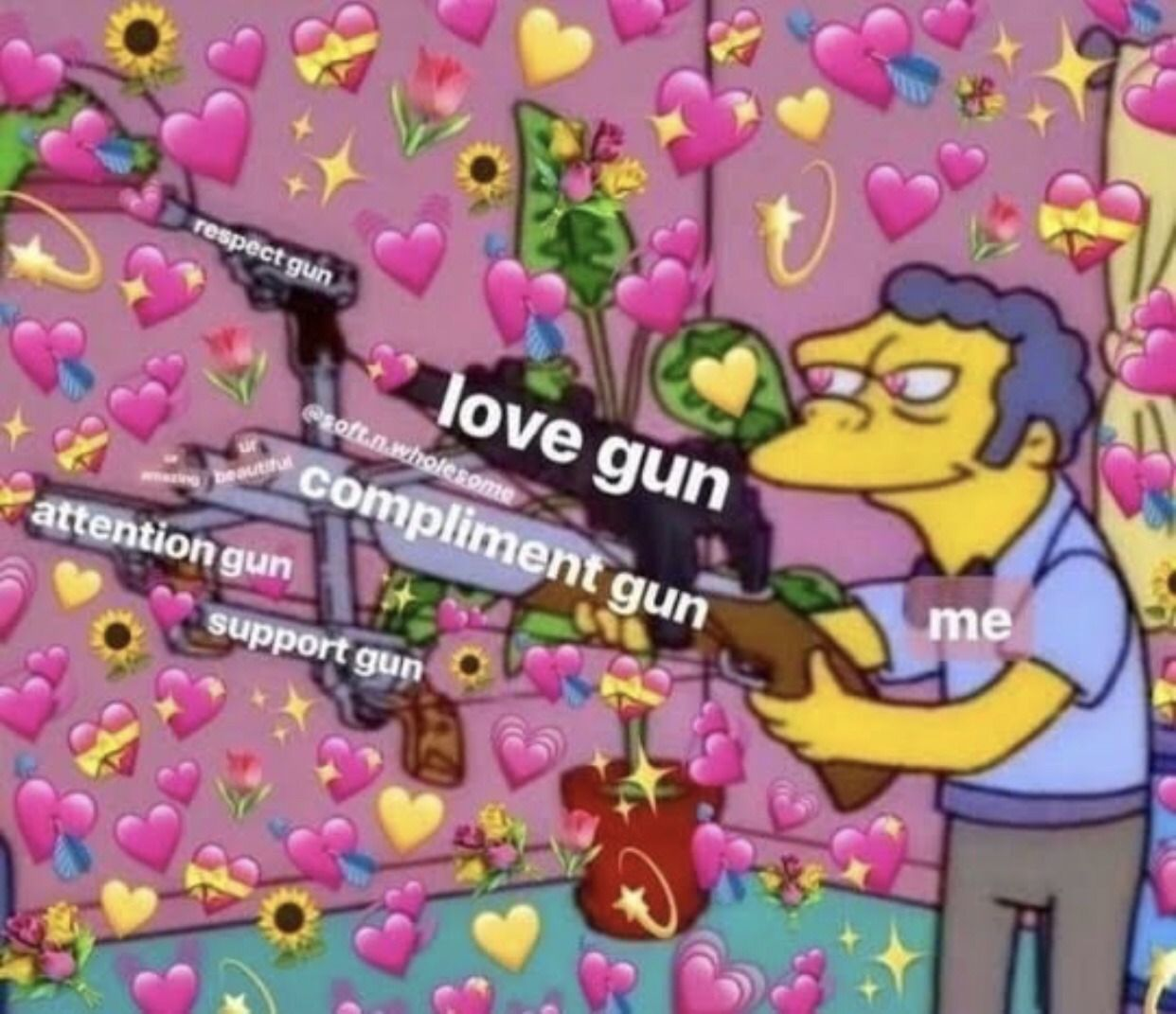 *hits you with all my love*💝🔫 Cute love memes, Love