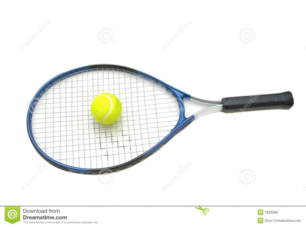Tennis Racket And Ball Isolate Royalty Free Stock Photo Image