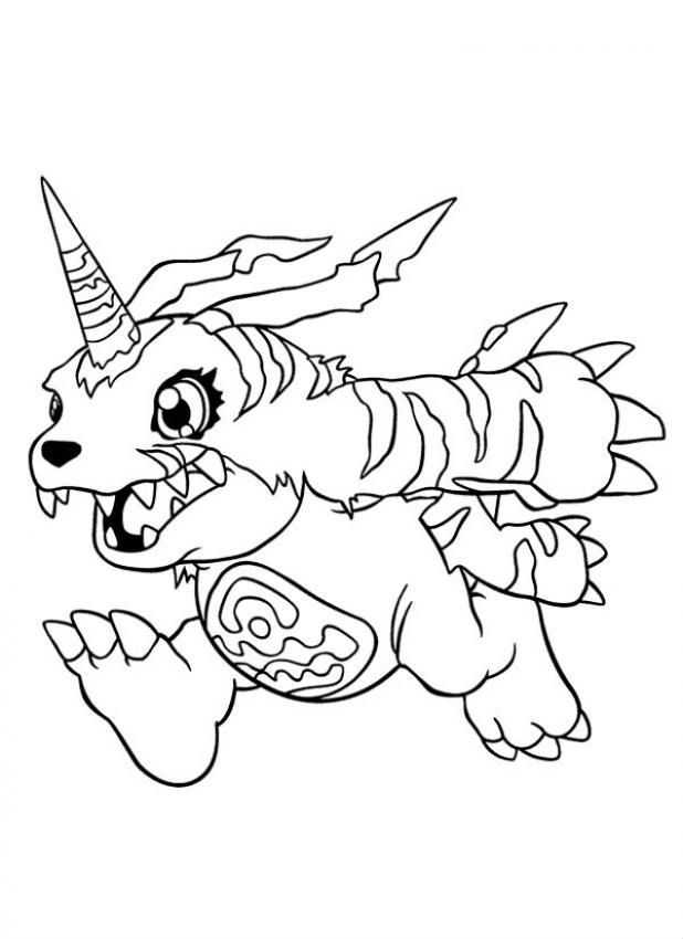 Digimon Gabumon Coloring Page You Will Love To Color A Nice Enjoy This For Free