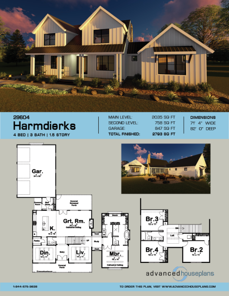 1 5 Story Modern Farmhouse Plan Harmdierks Modern Farmhouse Plans Farmhouse Plans House With Porch