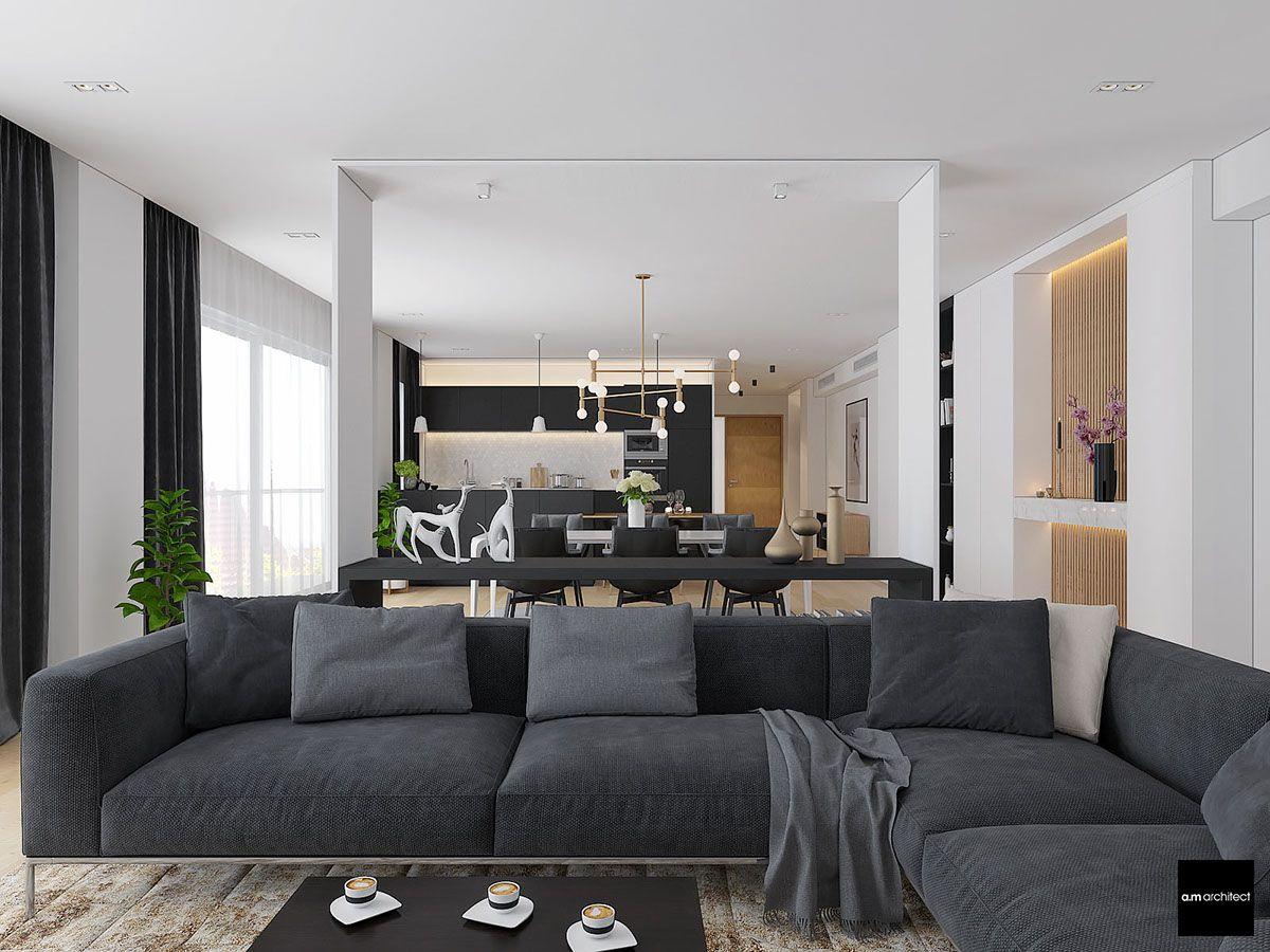 Two Modern Minimalist Apartments With Subtle Luxurious Details Minimalist Apartment Minimalist House Design Apartment Design