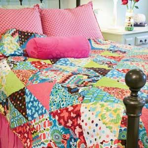 bed quilt patterns | ... large lap or twin bed quilt as a holiday ... : quick quilt ideas - Adamdwight.com