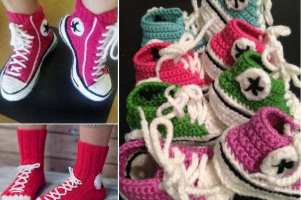 Crochet Converse Slippers Free Patterns | Kids Stuff | Pinterest