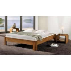 Photo of Double bed / guest bed solid pine solid white 77, incl. Slatted base – 180 x 200 cm (W x L) stone