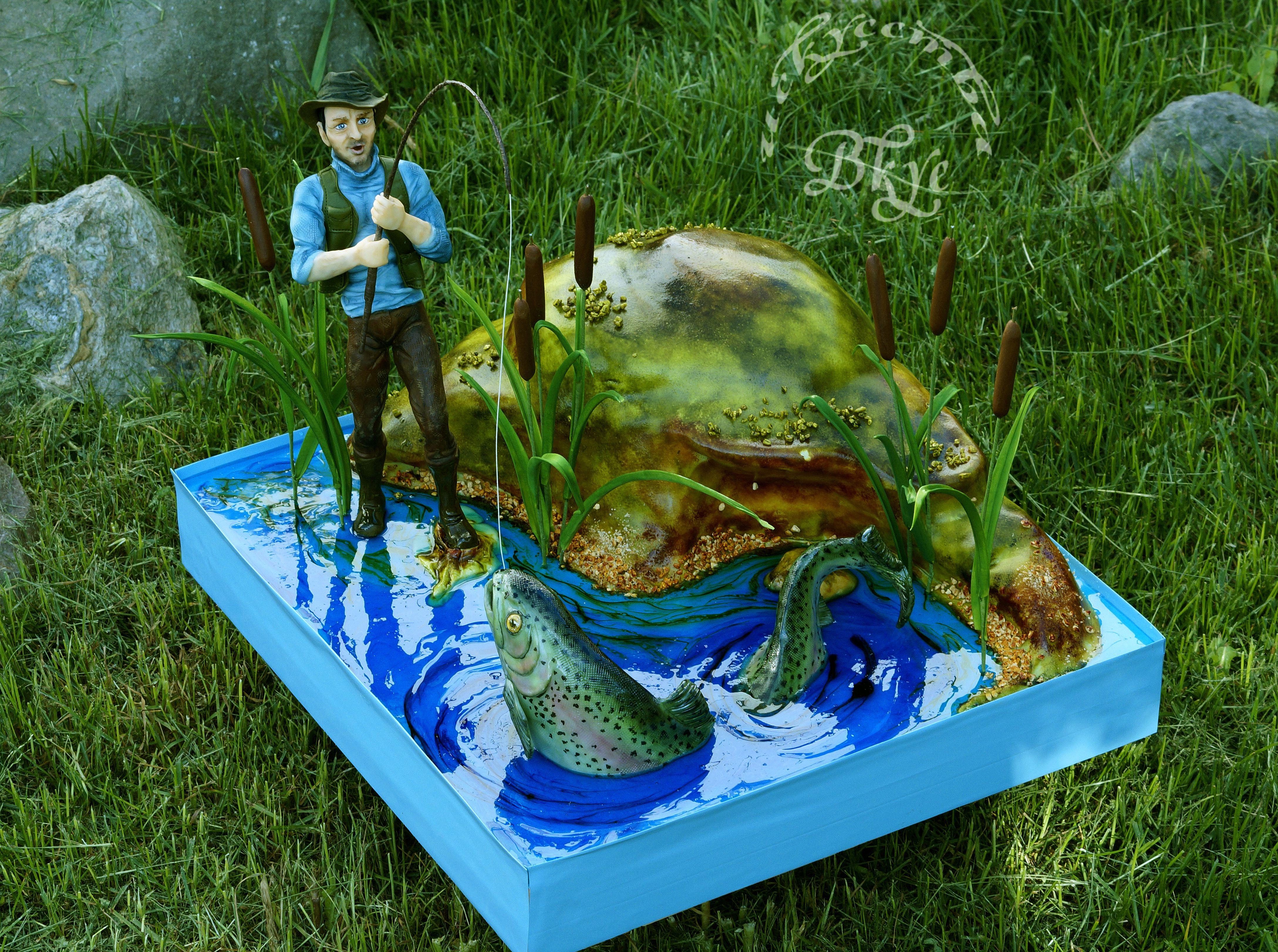 торт на тему рыбалка картинки есть версия