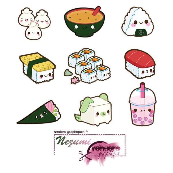 Render A Little Kitty Nourriture Japonaise Kawaii Onigiri Soupe