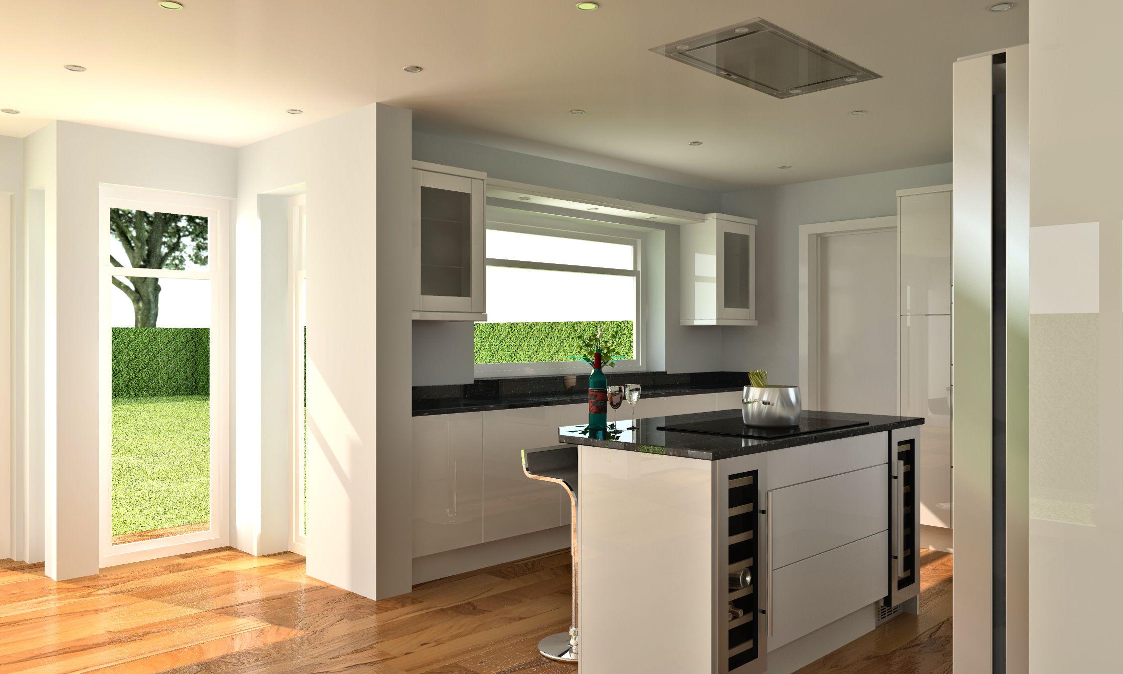 redsdk kitchen render created by darrel durose using turbocad pro