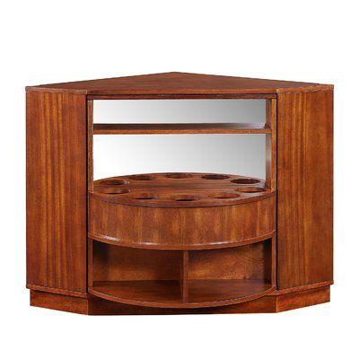 Winston Porter Studley Rotating Corner Bar Cabinet Corner Bar