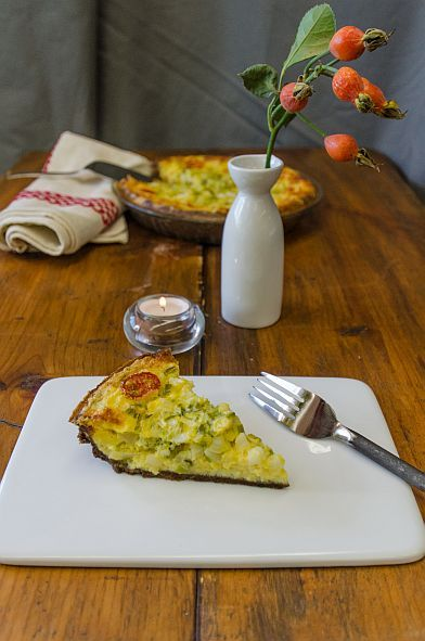 Sweet Corn Quiche with Teff Crust | Bob's Red Mill
