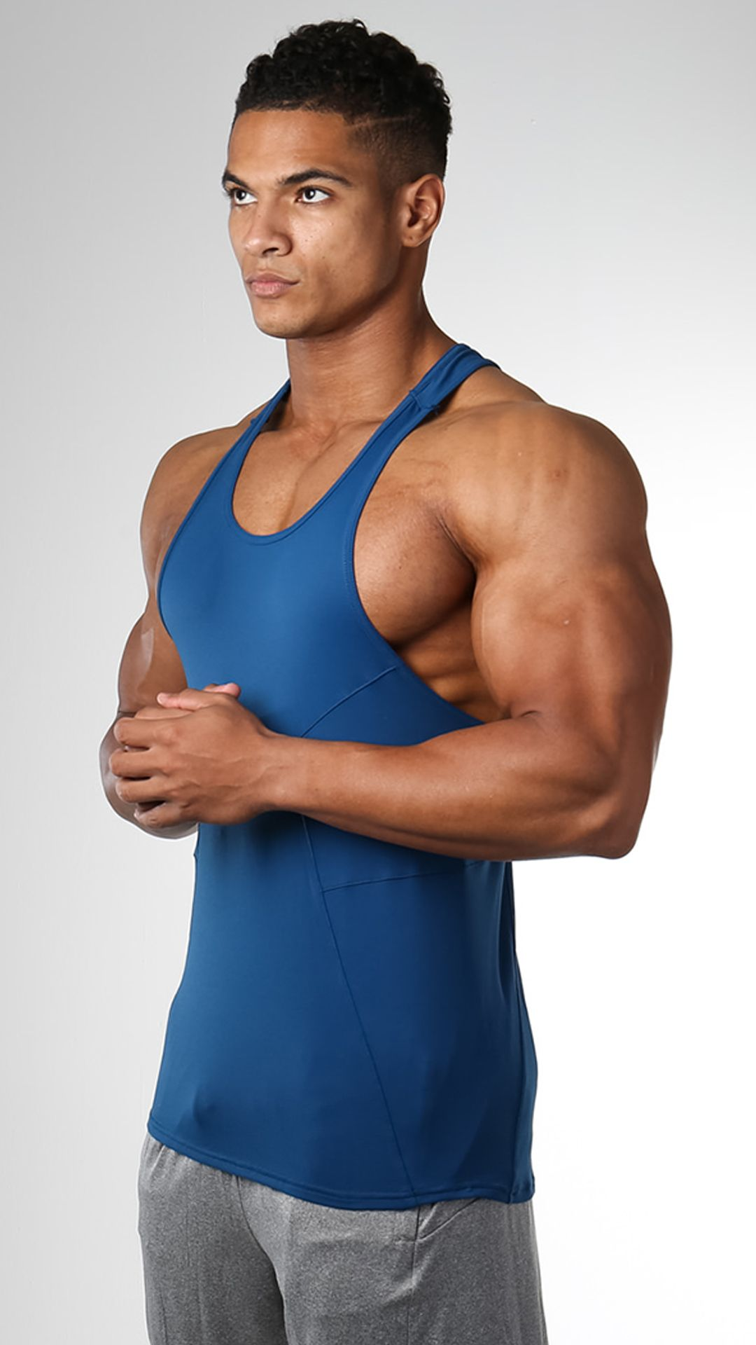33a8651249db0 Element Stringer Atlantic Blue The Gymshark DRY Element Gym Stringer has  moisture wicking technology and stretch fit for comfort in intense  situations.