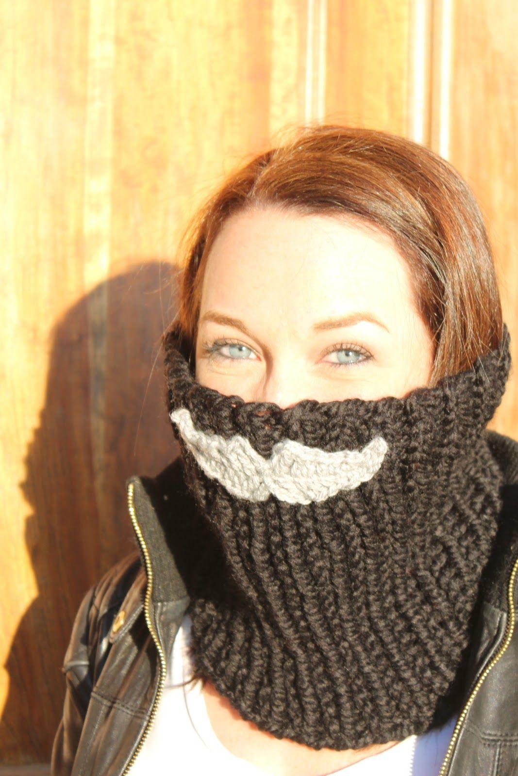 Mustache neck warmer free patterns from crocheters pinterest mustache neck warmer crochet mustache patterncrochet bankloansurffo Images