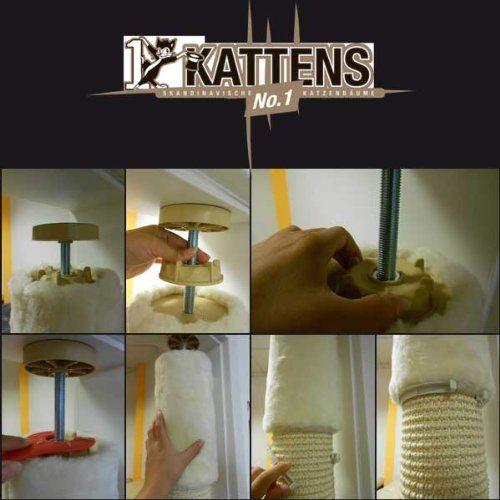 Kattens No. 1 - Kratzbaum Pfeiler - Deckenspanner - creme: Amazon.de: Haustier
