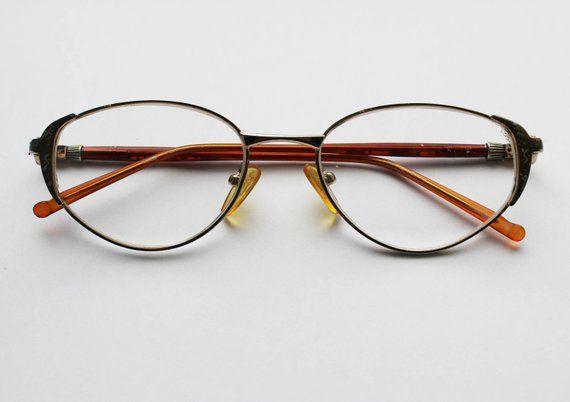 20ae9718cbf1 Vintage Eyeglasses Retro Glasses Plastic Frame Old Authentic Reading Glass  Grandma Retro Gift Brown