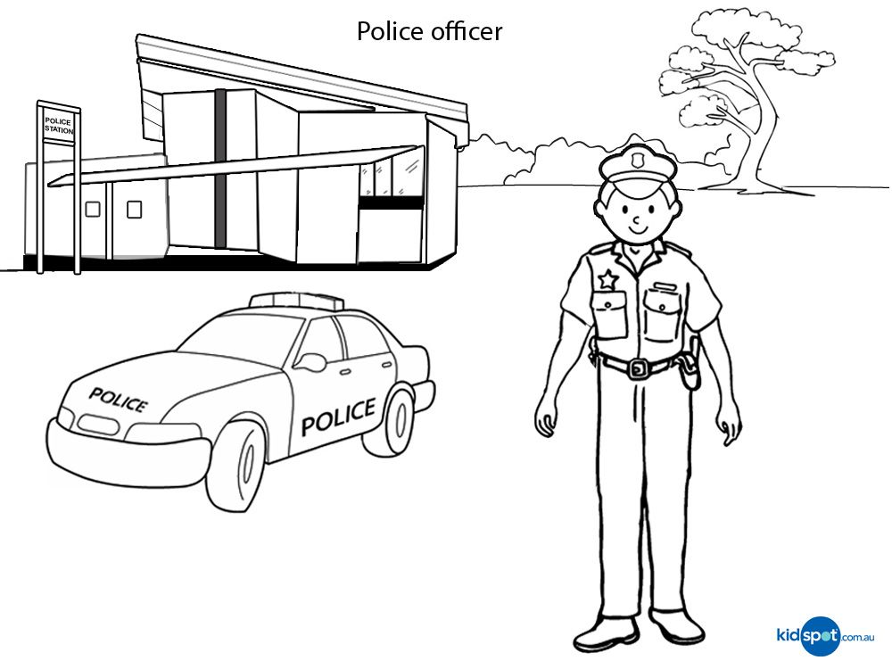 Police Officer Activities For Kids Colouring Pages Pictures Of Police Police Station Coloring For Kids