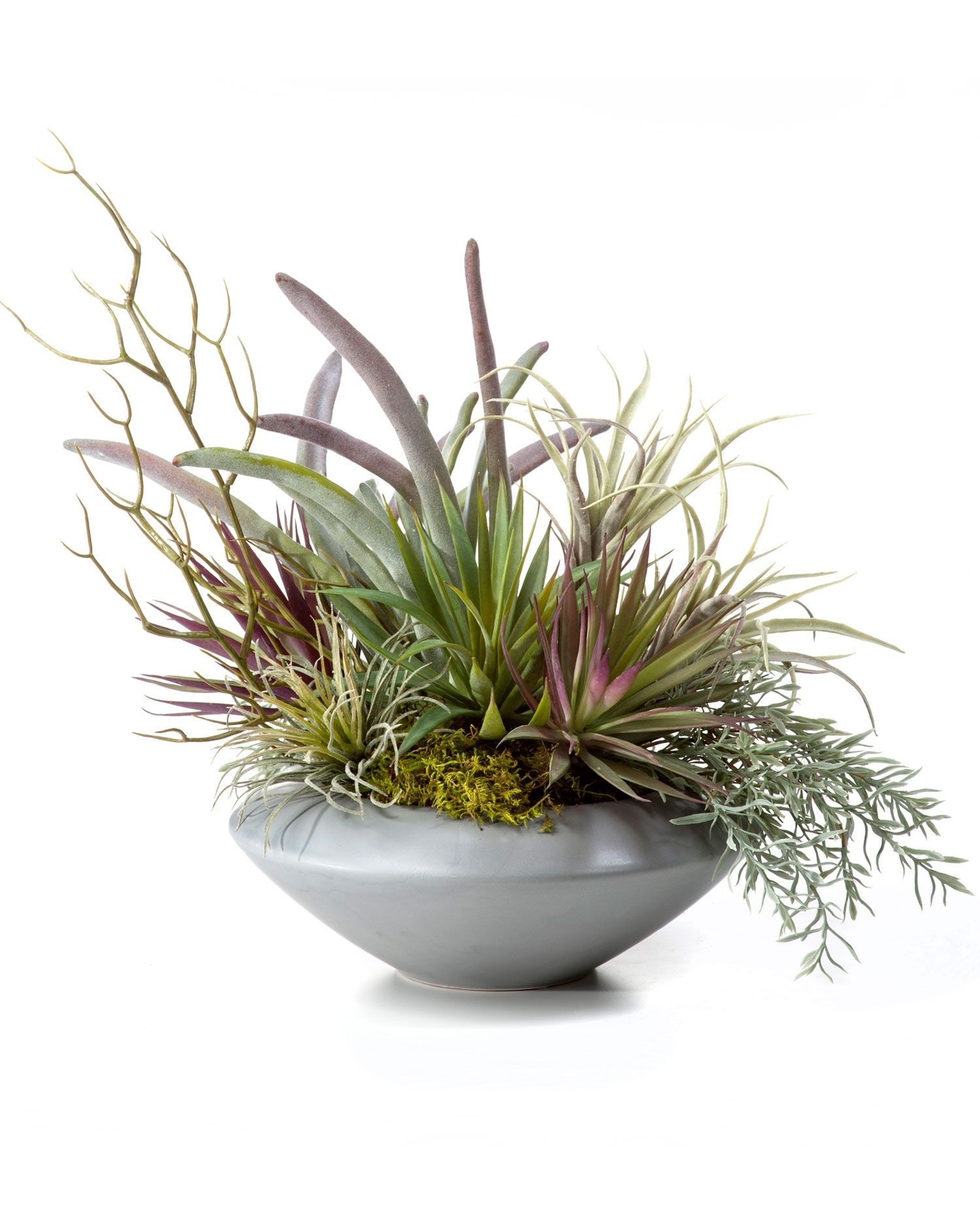 Lifelike Plants Cheap Artificial Succulents Earthy Succulent Bowl