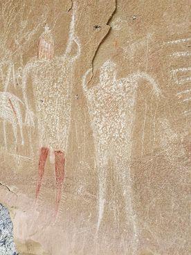 Rock Art Moab Region Utah Petroglyphs Pictographs America