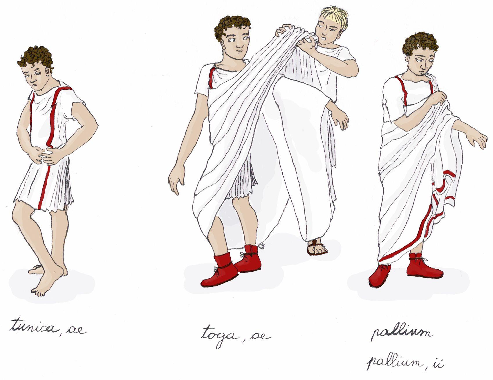 Mode dans la rome antique hommes seuls les citoyens for Portent en francais