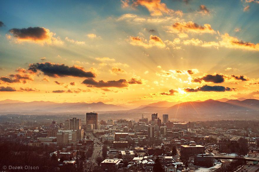 Photo Of Asheville Visit Asheville Sunset City Trip