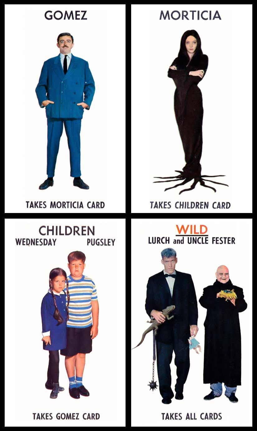 Uncle fester the addams family pinterest - Milton Bradley S 1965 The Addams Family Card Game