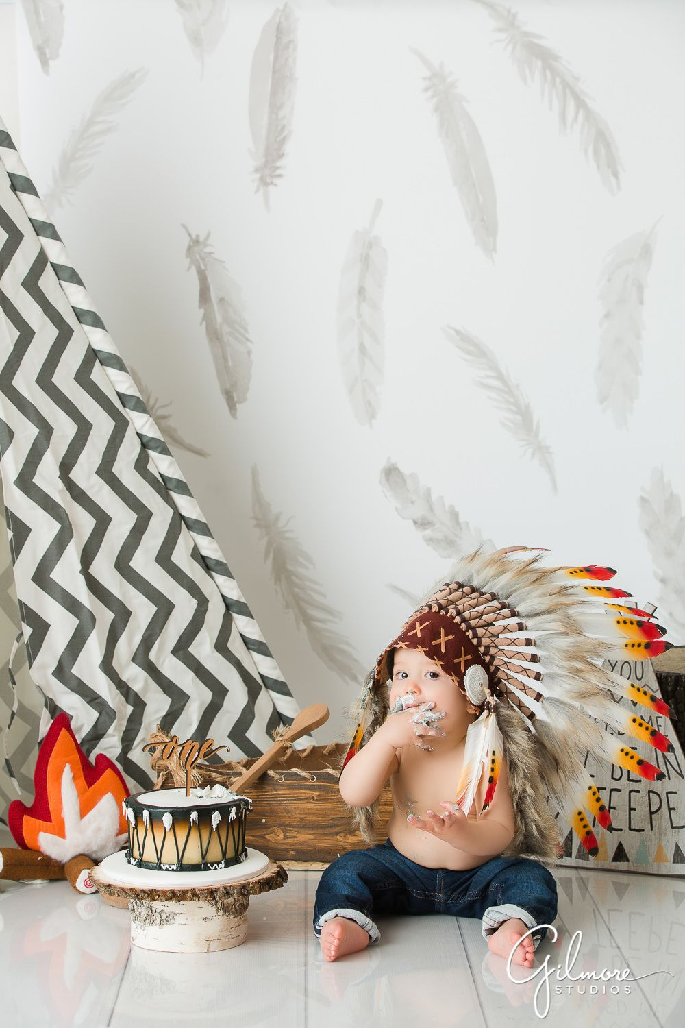 Little Indian Cake Smash OC Family Photographer