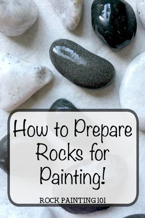 How to easily prepare rocks for painting amazing stones