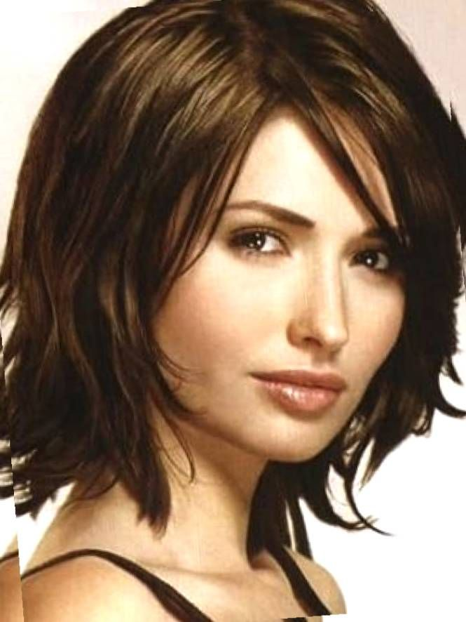 Medium Length Hairstyles For Thick Hair With Side Bangs