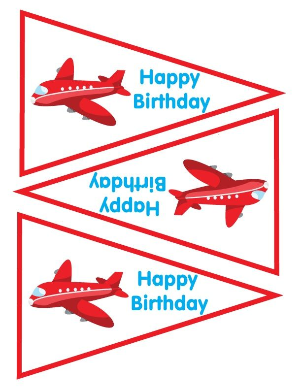 Banner Pieces Airplane Party Favors Time Flies Birthday Games Car