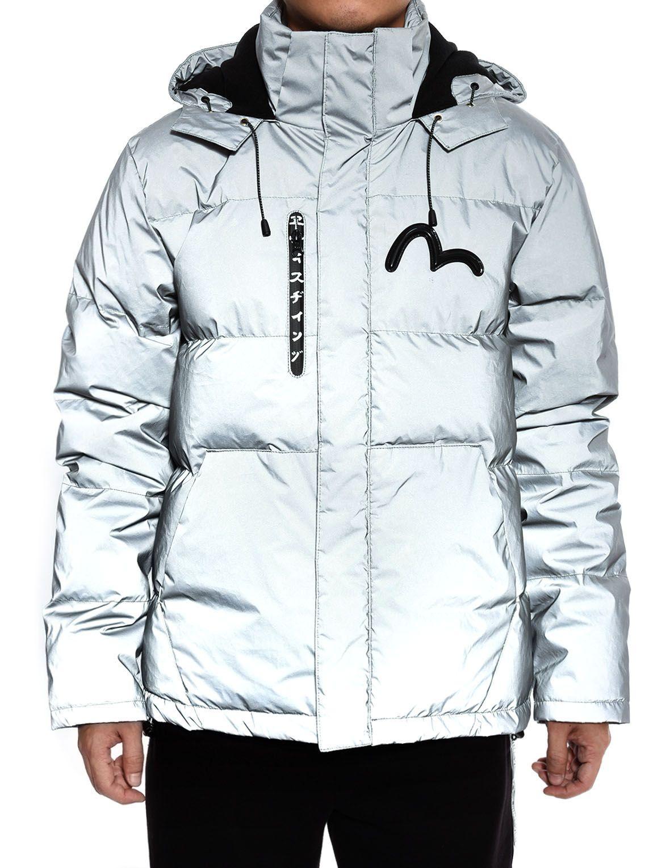 69c669736ace Image of Evisu Silver Multi Logo Hooded Down Jacket   Fashion ...