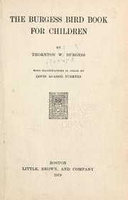 The Burgess Animal Book For Children Thornton W Waldo