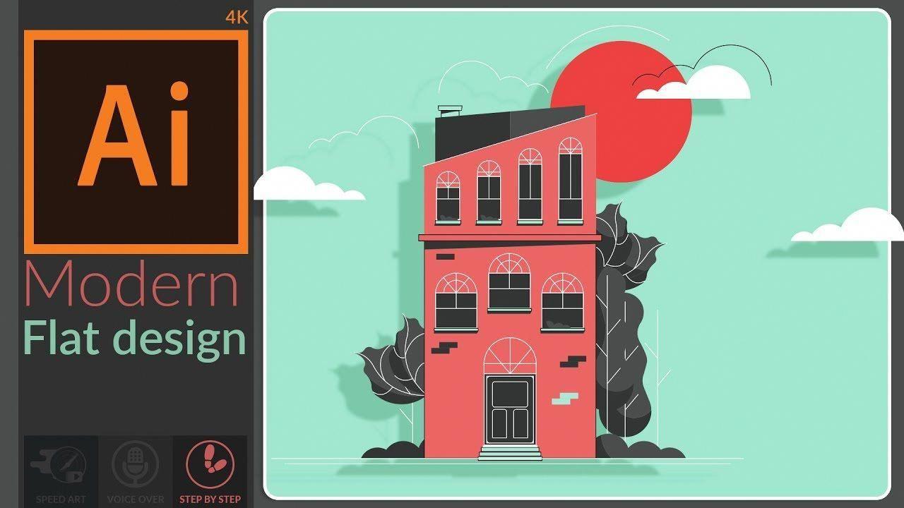 Modern Flat Design Art In Adobe Illustrator Cc Photoshoptutorialillustration Photoshop Illustration Tutorial Adobe Illustrator Lessons Photoshop Illustration