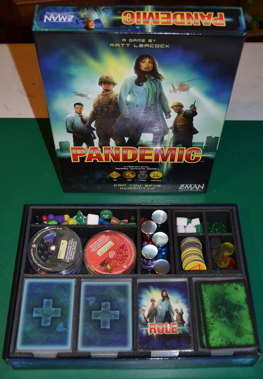 Pandemic™ Foamcore Insert (preassembled) Tabletop games