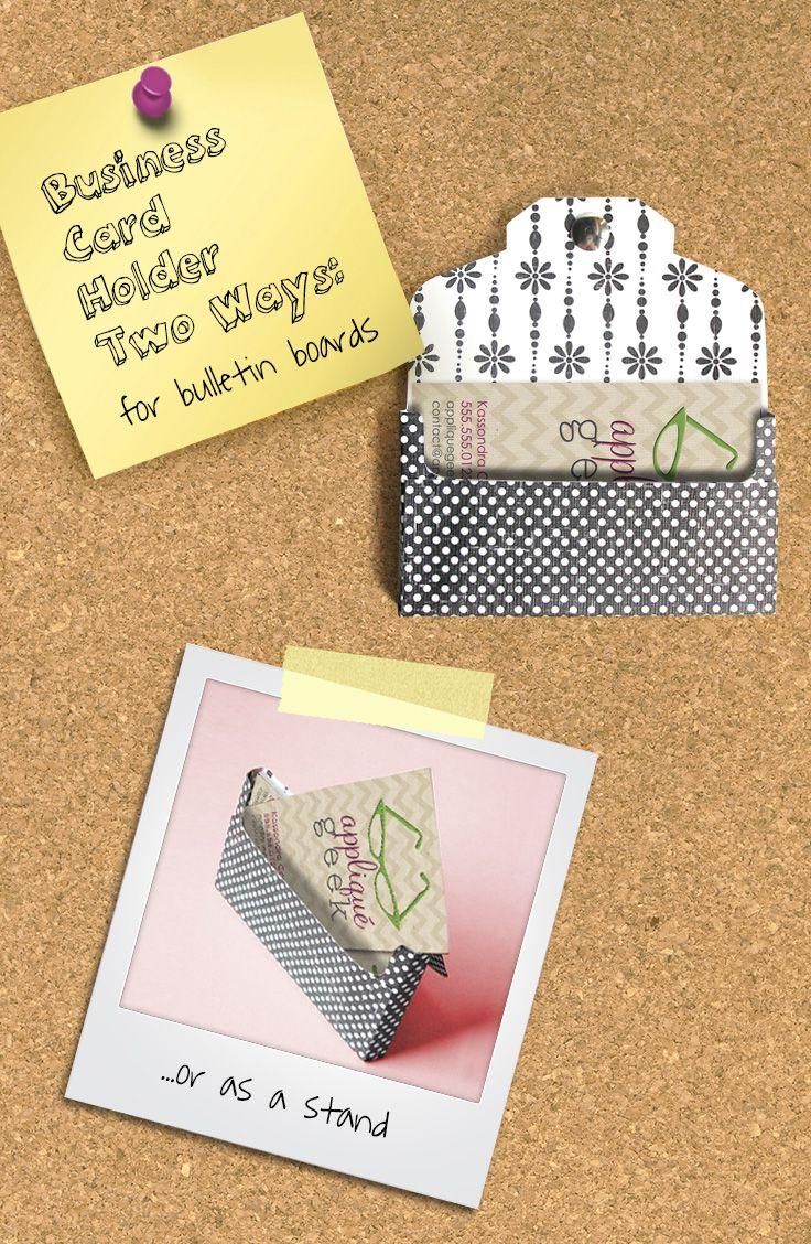 Business Card Holder Tutorial Business card displays