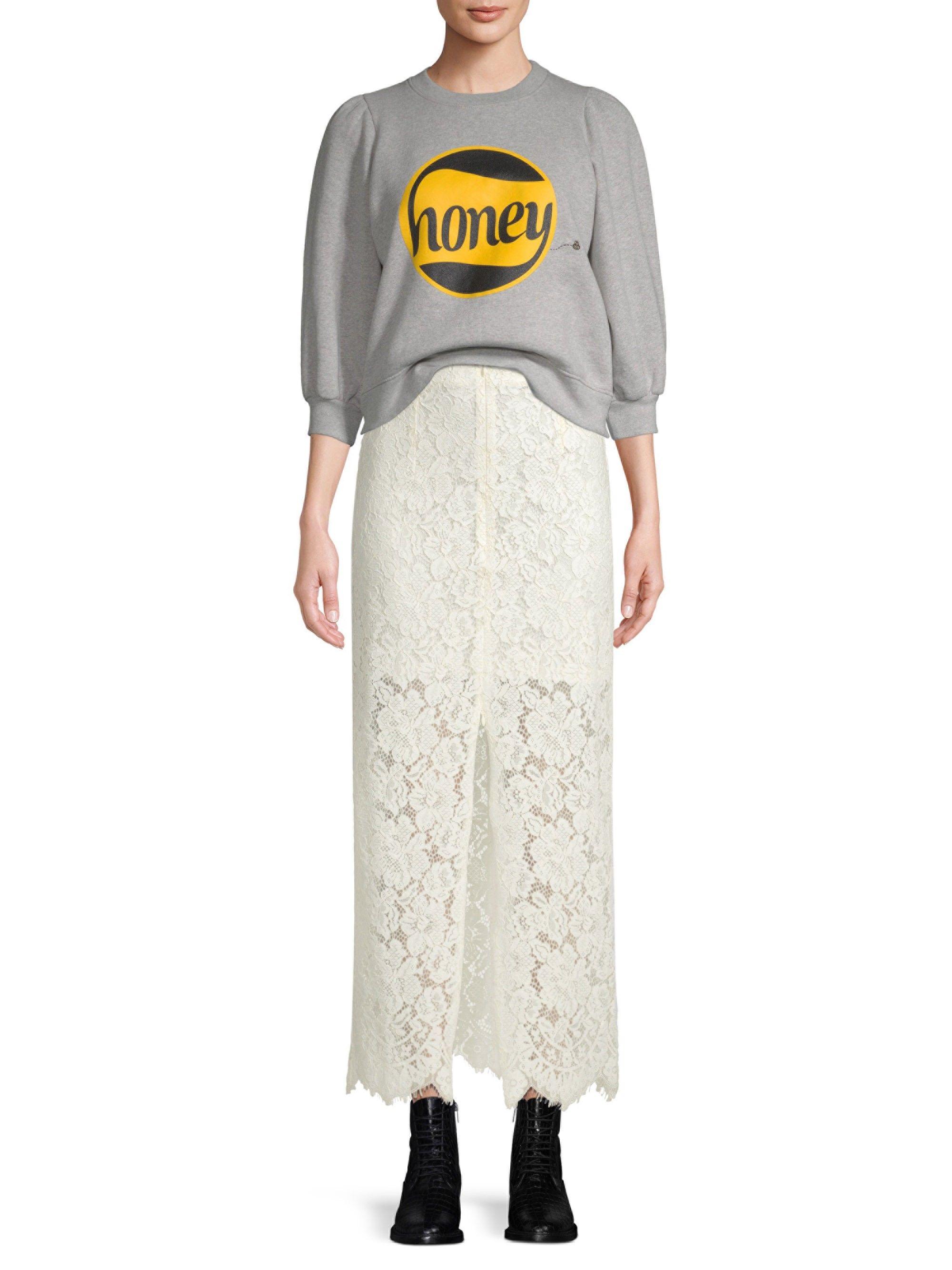 Ganni Lott Isoli Cotton Sweatshirt Paloma Melange X Small Cotton Sweatshirts Sweatshirts Ganni [ 2667 x 2000 Pixel ]
