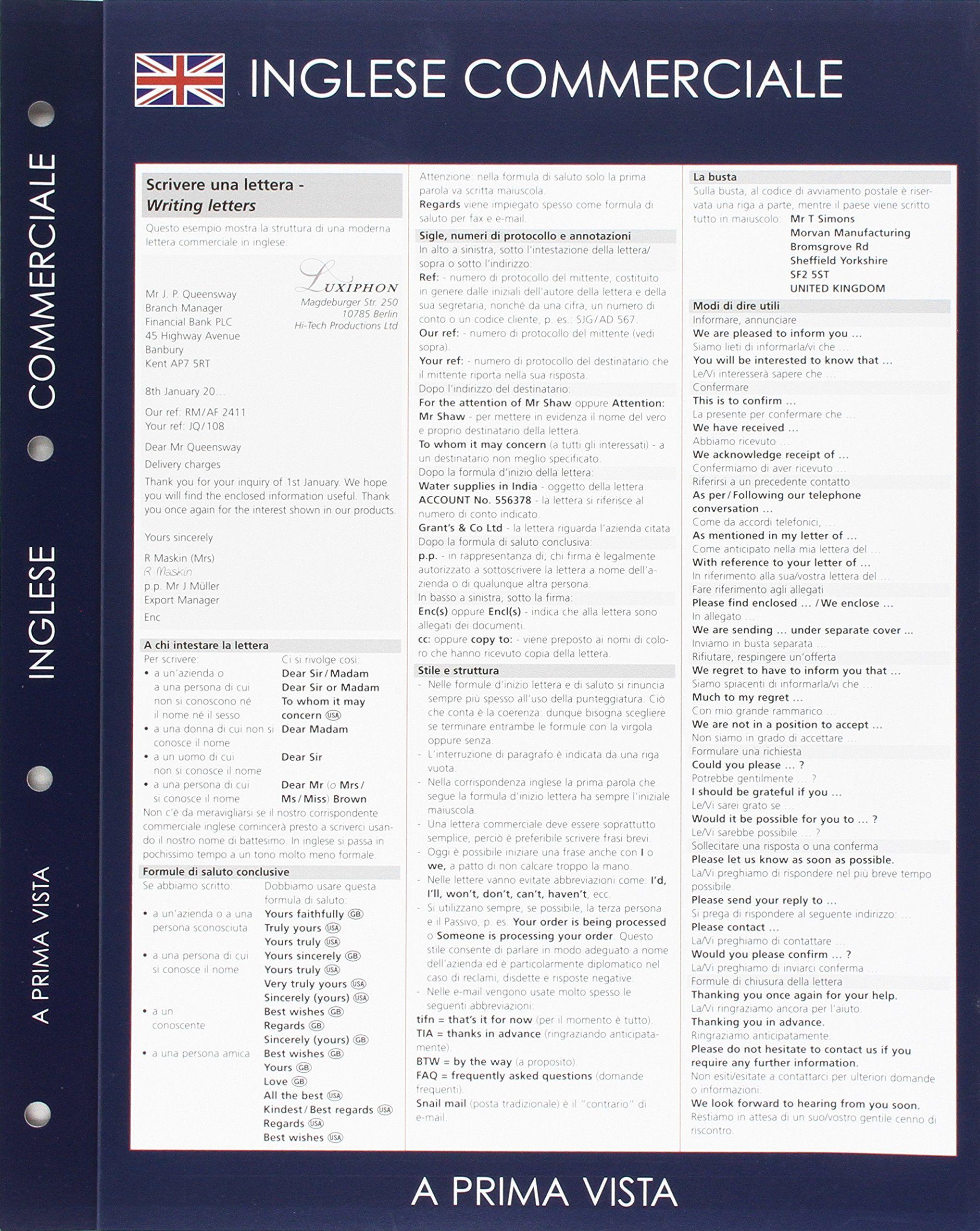 A Prima Vista Inglese Commerciale Vista Prima Commerciale