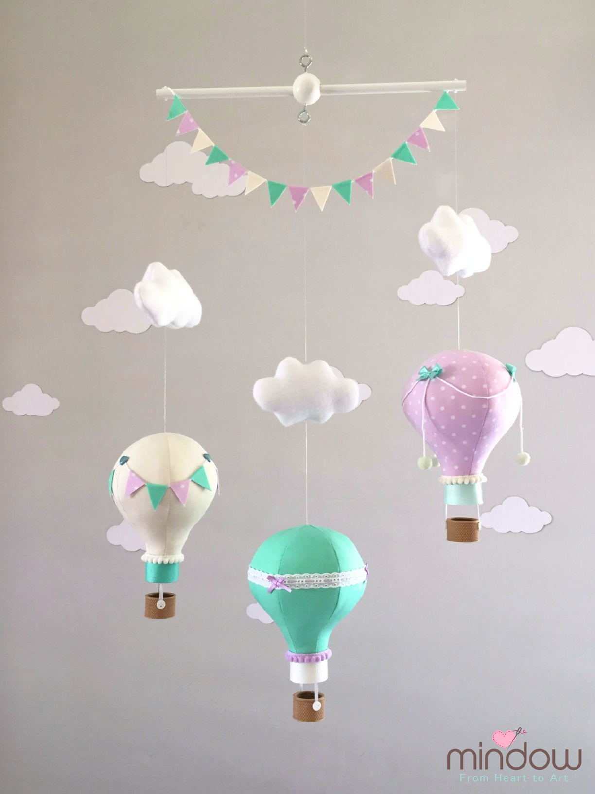 Hot air balloon mobile - מובייל כדורים פורחים | Hot air balloon ...